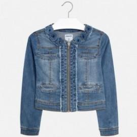 Mayoral 6418-47 Kurtka dziewczęca jeans kwiaty kolor niebieski