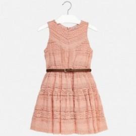 Mayoral 6946-70 Sukienka dla dziewczynki kolor róż