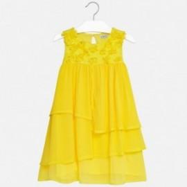 Mayoral 6956-52 Sukienka dziewczęca kolor żółty