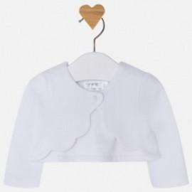 Mayoral 1402-76 Sweterek bolerko dziewczęce kolor biały