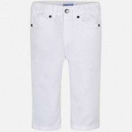 Mayoral 506-77 Spodnie chłopięce kolor biały