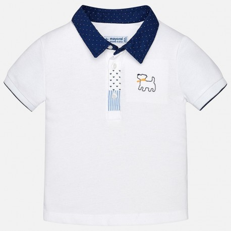 Mayoral 1128-78 Polo koszulka dla chłopaka kolor biały