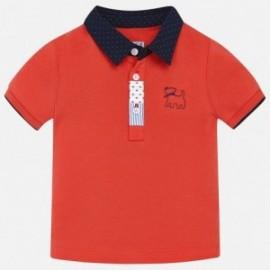 Mayoral 1128-80 Polo koszulka dla chłopaka kolor czerwony