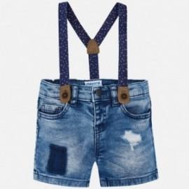 Mayoral 1296-31 Bermudy chłopięce jeans kolor niebieski