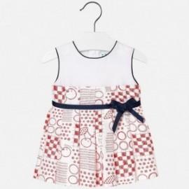 Mayoral 1936-33 Sukienka dla dziewczynki kolor czerwony
