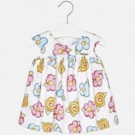 Mayoral 1956-29 Sukienka dla dziewczynki kolor biały