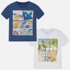 Mayoral 3089-11 Koszulki chłopięce 2 szt. kolor biały/niebieski
