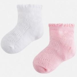 Mayoral 10398-63 Skarpetki dziewczęce 2 pary kolor różowy