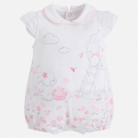 Mayoral 1736-10 Piżama dla dziewczynki kolor biały