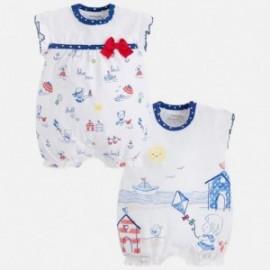 Mayoral 1760-10 Piżamki dla dziewczynki 2 sztuki kolor niebieski