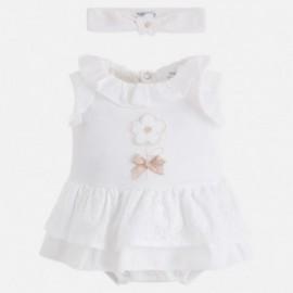 Mayoral 1814-91 Pajacyk spódniczka dla dziewczynki kolor krem