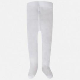 Mayoral 9760-23 Rajstopy dla dziewczynki falbanki kolor biały