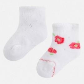 Mayoral 9769-58 Ponožky pro dívky bílý/mák