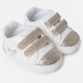 Mayoral 9807-12 Buciki niemowlęce dla dziewczynki kolor krem