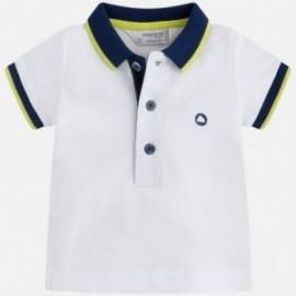 Mayoral 190-87 Koszulka chłopięca basic kolor biały