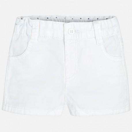 Mayoral 201-73 Spodnie krótkie chłopięce kolor biały
