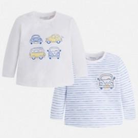 Mayoral 1010-44 bluzki chłopięce kolor biały/niebieski