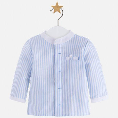 Mayoral 1114-81 Koszula chłopięca lniana kolor niebieski