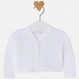 Mayoral 1308-45 Sweter bolerko kolor biały
