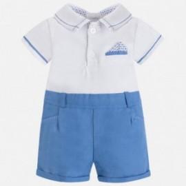 Mayoral 1652-63 Pajacyk dla chłopca kolor niebieski