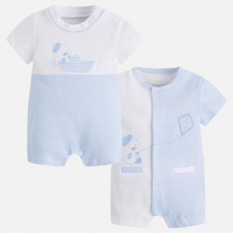 Mayoral 1724-44 Dwie piżamki dziecięce dla chłopca z krótkim rękawem