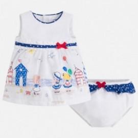 Mayoral 1864-10 Sukienka dla dziewczynki kolor niebieski