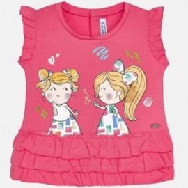 Mayoral 1016-67 Koszulka dziewczęca z falbankami kolor fuksja