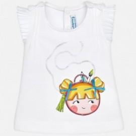 Mayoral 1018-61 Koszulka dziewczęca kolor biały