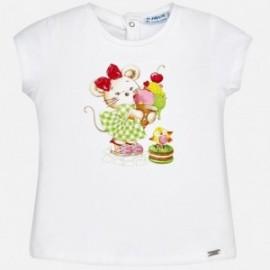 Mayoral 1030-68 Koszulka dziewczęca kolor Biały