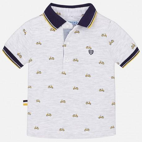 Mayoral 1136-51 Koszulka chłopięca polo kolor szary
