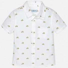 Mayoral 1152-51 Koszula chłopięca kolor biały/żółty