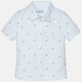 Mayoral 1152-53 Koszula chłopięca kolor biały/niebieski