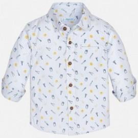 Mayoral 1174-76 Koszula chłopięca kolor biały/niebieski