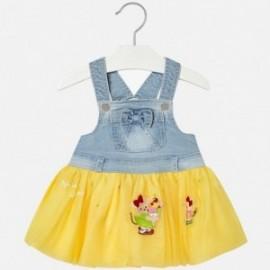 Mayoral 1904-75 Spódnica ogrodniczka dziewczęca kolor żółty
