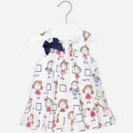 Mayoral 1972-6 Sukienka dla dziewczynki kolor biały