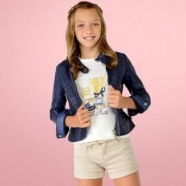 Mayoral 6026-50 Koszulka dziewczęca kolor krem