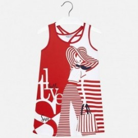Mayoral 6972-40 Sukienka dziewczęca kolor czerwony