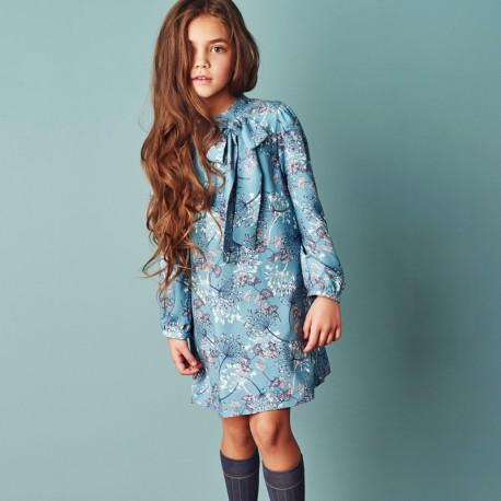2b08eb2dfb329b MINIMI sukienka dla dziewczynki 42/18 kolor turkus