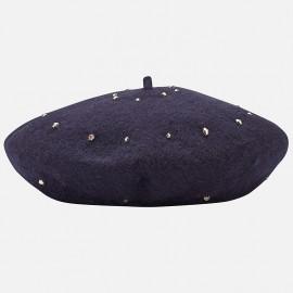 Mayoral 10510-68 Czapka beret dziewczęcy kolor granat