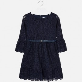 Mayoral 7930-90 Sukienka dziewczęca kolor Granatowy