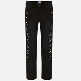 Mayoral 7534-22 Spodnie dziewczęce kolor Czarny