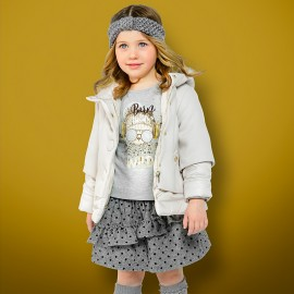 Mayoral 4422-20 Kurtka dziewczęca i płaszczyk kolor szary