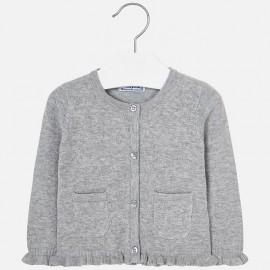 Mayoral 2340-43 Sweter dla dziewczynki kolor srebrny