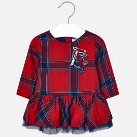 Mayoral 2926-19 Sukienka dziewczęca w kratkę kolor czerwony