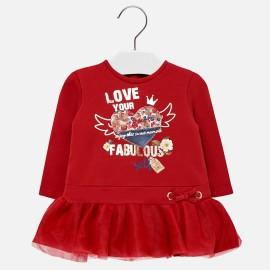 Mayoral 2948-48 Sukienka dziecięca kolor czerwony