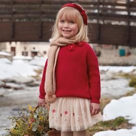 Mayoral 4318-63 Sweter dziewczęcy kolor czerwony