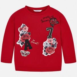 Mayoral 4462-82 Bluza dziewczęca kolor czerwony