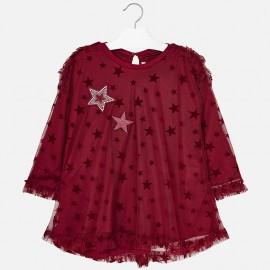 Mayoral 4960-28 Sukienka dziewczęca kolor malina