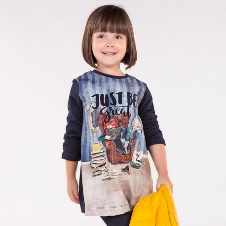 Mayoral 4972-87 Sukienka dziewczęca kolor Granat