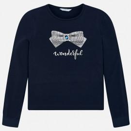 Mayoral 7044-91 Koszulka dla dziewczynki kolor granatowy